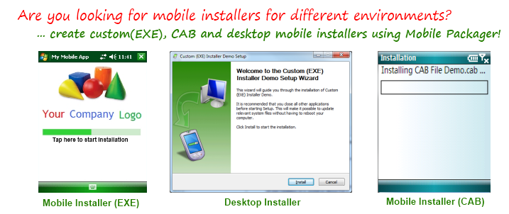 Create installers for different environments